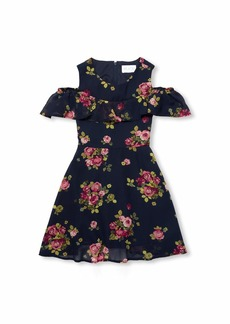 The Children's Place Big Girls Cold Shoulder Pleated Dresses