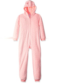The Children's Place Big Girls' Cozy Neon Leopard Fashion Sleepwear  L (10/12)