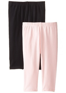 The Children's Place Big Girls' Cropped Legging (Pack of 2) Black/Shell