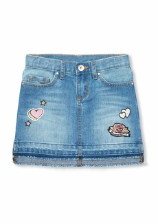 The Children's Place Big Girls' Fashion Denim Skirt Medium Blue FLWR wash