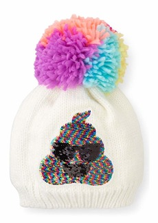 The Children's Place Big Girls' FLIP Sequence Emoji HAT