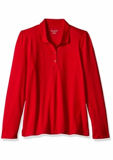 The Children's Place Big Girls' Long Sleeve Basic Polo  XL (14)