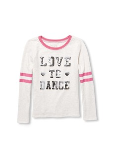 The Children's Place Big Girls' Long Sleeve Football Knit  S (5/6)