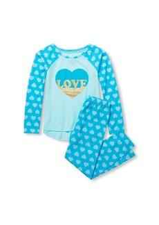The Children's Place Big Girls' Long Sleeve Graphic Pajama Set SOFTMARINE M (7/8)
