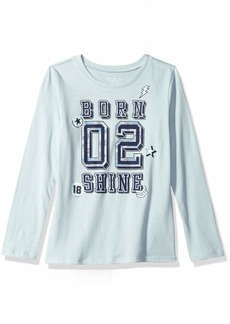 The Children's Place Big Girls' Long Sleeve Graphic Tees  XL (14)