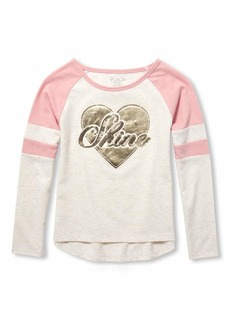 The Children's Place Big Girls Long Sleeve Graphic Tops  L (10/12)