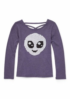 The Children's Place Big Girls Long Sleeve Graphic Tops  M (7/8)