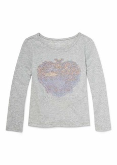The Children's Place Big Girls Long Sleeve Graphic Tops  XL (14)