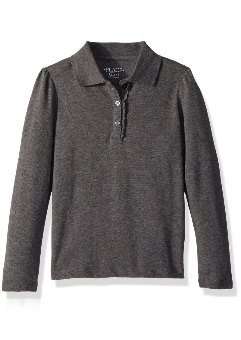 The Childrens Place Big Girls Long Sleeve Basic Polo
