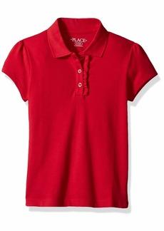 The Children's Place Big Girls' Long Sleeve Ruffle Polo Shirt  XS (4)