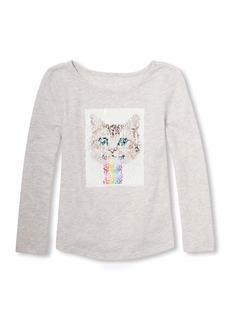 The Children's Place Big Girls' Long Sleeve Sequin Knit  M (7/8)