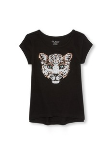 The Children's Place Big Girls' Novelty Short Sleeve Graphic Top  M (7/8)