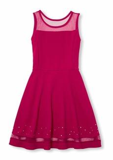 The Children's Place Big Girls' Rhinestone Dress neon Scarlett