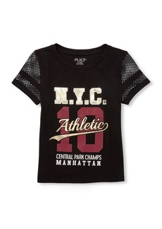 The Children's Place Big Girls' Short Sleeve Active Knit