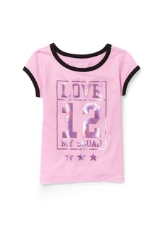 The Children's Place Girls' Big Short Sleeve Active Tops Boxing Pink neon 5567
