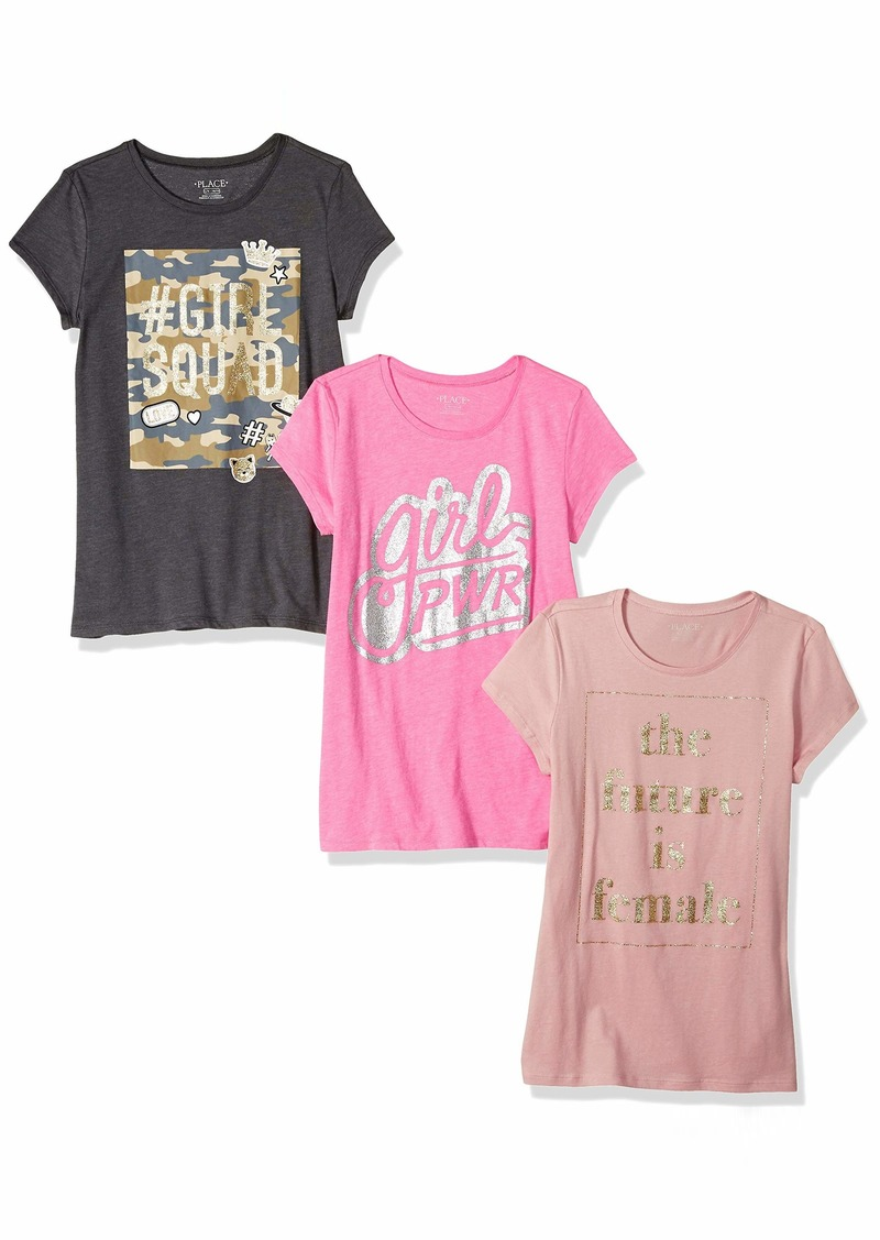 The Children's Place Big Girls' Short Sleeve Graphic Tees Multi CLR L (10/12)