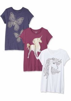 The Children's Place Big Girls' Short Sleeve Graphic Tees Multi CLR M (7/8)