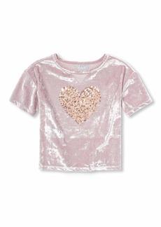 The Children's Place Big Girls Short Sleeve Graphic Tops Strong iris XXL(16)