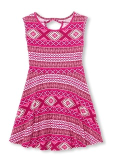The Children's Place Big Girls' Short Sleeve Pleated Dress