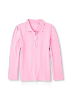 The Children's Place Big Girls' Short Sleeve Ruffle Polo Shirt SPARKLPINK