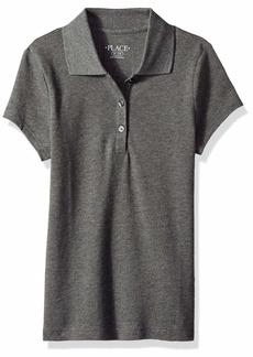 The Children's Place Big Girls' Short Sleeve Uniform Polo DKHTRGRAY XXL(16)