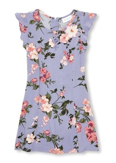 The Children's Place Big Girls' Sleeveless Flower Dress  S (5/6)