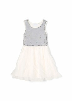 The Children's Place Big Girls' Sleeveless Sequin Dress