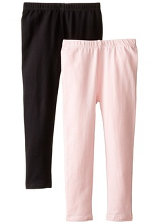 The Children's Place Big Girls'  Solid Legging (Pack of 2) Black/Shell  (4)