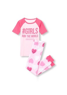 The Children's Place Girls' Big Top and Pants Pajama Set