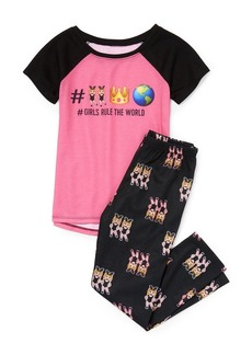 The Children's Place Big Girls' Top and Pants Pajama Set  M (7/8)