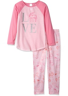 The Children's Place Big Girls' Unicorn Love 2 Piece Sleepwear Set  XS (4)