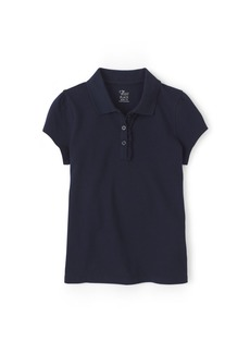 The Children's Place Girls' Big Uniform Short Sleeve Polo Tidal-Ruffle 44391