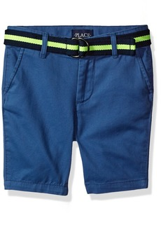 The Children's Place Boys' Big Belted Short