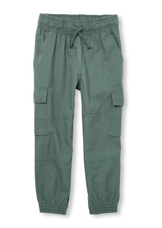 The Children's Place Boys' Big Cargo Jogger Pant Dark herb
