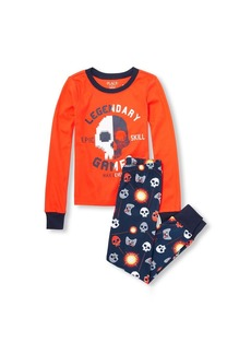 The Children's Place Boys' Big Gamer Pajama Set