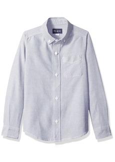 The Children's Place Boys' Big Long Sleeve Button-Up Shirt