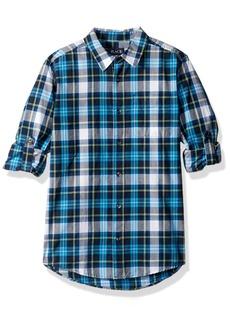 The Children's Place Boys' Big Plaid Double-roll Shirt  M (7/8)