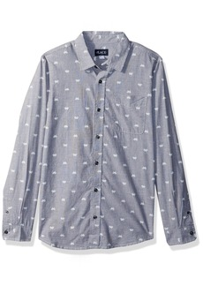 The Children's Place Boys' Big Poplin Shirt
