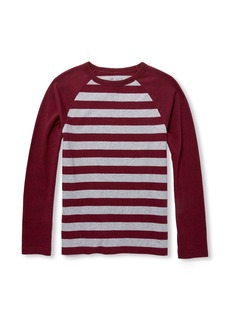 The Children's Place Boys' Big Raglan Stripe Long Sleeve  L (10/12)