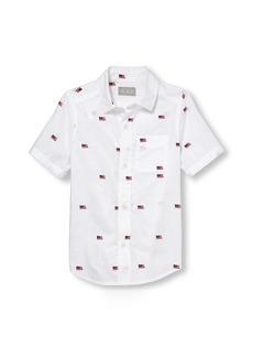 The Children's Place Boys' Big Short Sleeve Button-Up Shirt