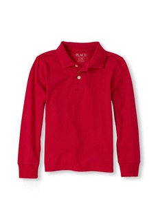 The Children's Place Boys' Big Short Sleeve Solid Polo CLASSICRED 00604