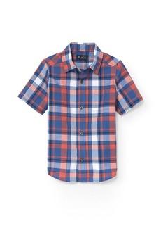 The Children's Place Boys' Big Short Sleeve Uniform Oxford Shirt  L (10/12)