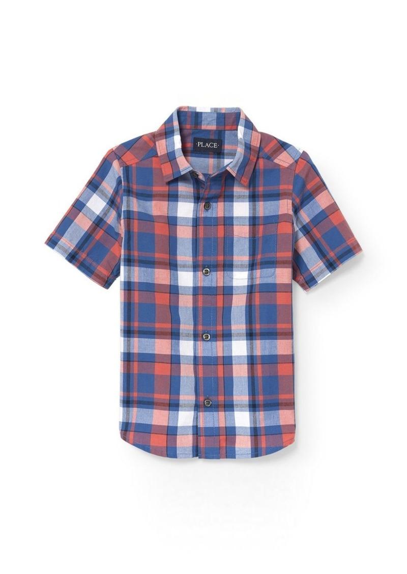 d7d252c8b9 The Childrens Place Baby Boys Big Kid Short Sleeve Shirt Sports & Outdoors