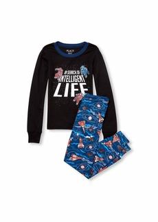The Children's Place Boys' Big Space Pajama Set