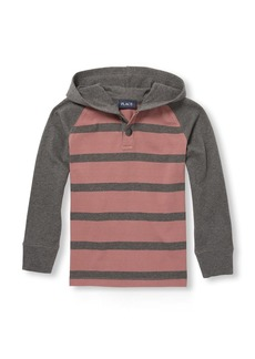 The Children's Place Boys' Big Stripe Hooded Long Sleeve  M (7/8)