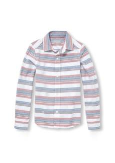 The Children's Place Boys' Big Striped Long Sleeve Button Down Shirt