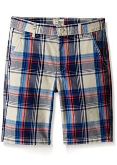 The Children's Place Big Boys' Flat Front Plaid Shorts