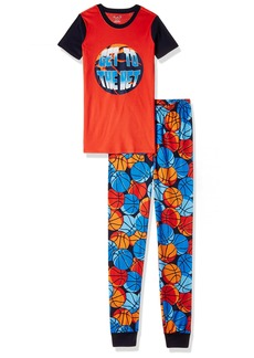 The Children's Place Boy's Little Top and Pants Pajama Short Sleeve 2 Set Basketball (Heat Wave) 648