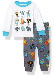 The Children's Place Boys Top and Pants Pajama Set  0-3MONTHS