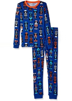 The Children's Place Boys Top and Pants Pajama Set Edge Blue